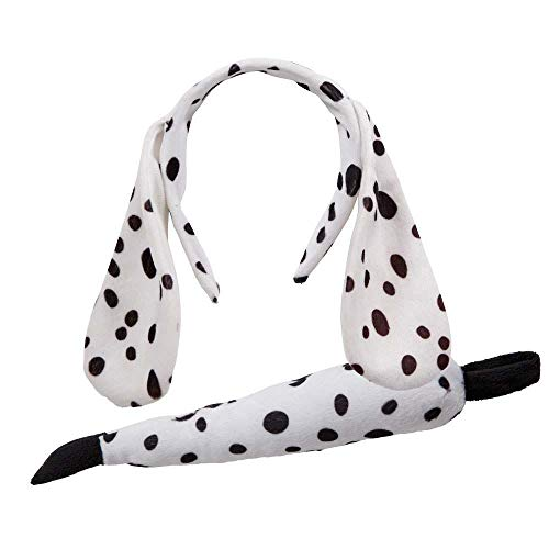 Animal Ears & Tail Set - Dalmation Dog Kids Unisex Costume