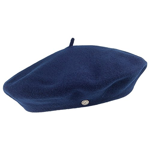 f9f7cbd7750af Laulhère Hats Authentique Merino Wool Beret - Navy 1-Size
