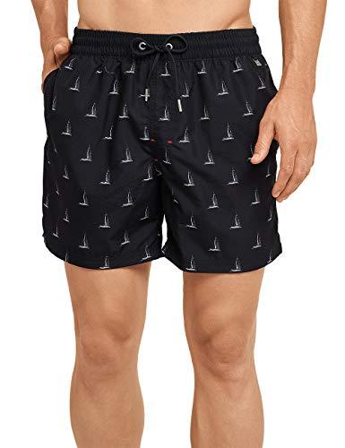 Schiesser Herren Aqua Swimshorts Shorts, Schwarz 000, Medium (Herstellergröße: 005)