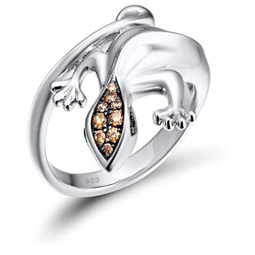 OLGN Ringe Für Silberne Ringe Für Frauen 925 Sterlingsilber Neuester Funkelnder Schellt Himmel-Blau-Art- Und Weiseschmucksachen @ 6