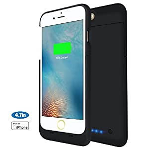 iPhone 6 / 6s Battery Case, MAXNON Ultra Slim Rechargeable Protective Extended Battery Charging Case with 3200mAh Capacity [ MFi Certified] for iphone (4.7 inch)(Black)