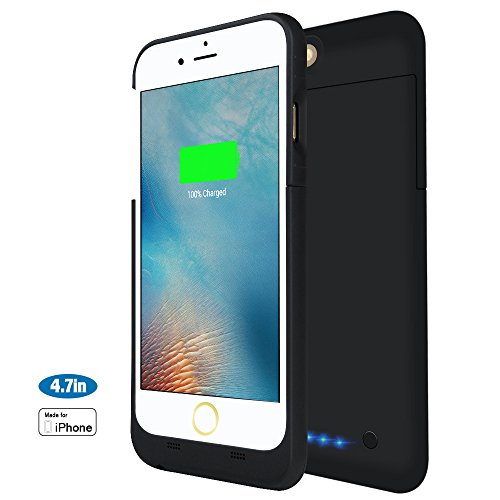 3200mah custodia cover batteria iphone 6 / iphone 6s ,chnano esterno di case del caricabatteria portatile cover per iphone 6s / 6 4.7'' - nero