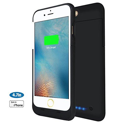 iPhone 6 / 6S Akkuhülle, 3200 mAh Ultra Dünn Schwarze Akku hülle Akku Schutzhülle [Apple MFi Zertifiziert] Aufladbares Schützendes Power Case für iPhone 6S / iPhone 6 (4,7 Zoll) (Mini-rock-cover)
