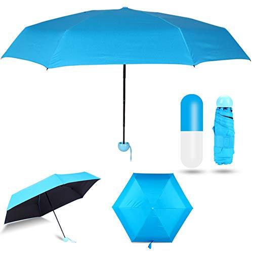 Mini Paraguas Plegable -WENTS Paraguas Viaje 210T