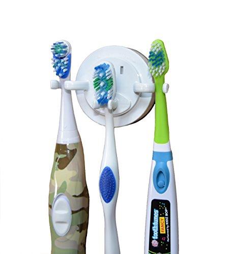 ZenCT Zahnbürstenhalter, Problemlose Befestigung ohne bohren - für 3 Zahnbürsten