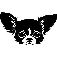 Aufkleber, Autoaufkleber süsser Chihuahua Kopf 25cm x 14cm