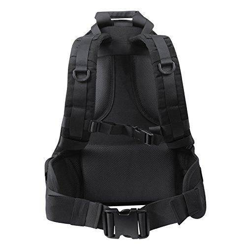 OneTigris RECON 34L Taktische Outdoor Rucksack Daypack für EDC Camping Wandern Reisen Schwarz-neue Version