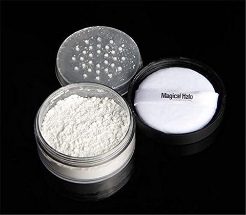 Fashion Base Magical Halo Long Lasting Loose Powder Waterproof Matte Setting Powder with Puff Concealer Light Banana Powder Mineral Makeup