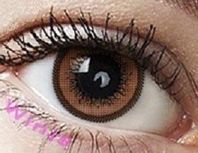 """Farbige Kontaktlinsen Jahreslinsen braun """"Brown"""" CUTIE-SERIE ohne Stärke COSPLAY LINSEN , große Augen"""