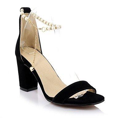 LvYuan Da donna-Sandali-Casual Serata e festa-Altro Club Shoes-Quadrato-Finta pelle-Nero Rosso Red