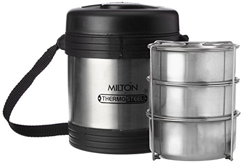 Milton Legend 3 Container Tiffin - Steel Plain 240ml,Small (TS...