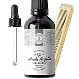 100ml Huile de Nigelle BIO Pressée à froid, Pure [ Kit Peigne + Pipette ] Cumin noir - Soin 100% Naturel pour Peau, Cheveux, Cuir chevelu - Qualité cosmétique et alimentaire