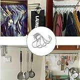 #4: 10Pcs S Shape Hooks Stainless Steel HangerRack Clothes Pot Pan Hanger Set