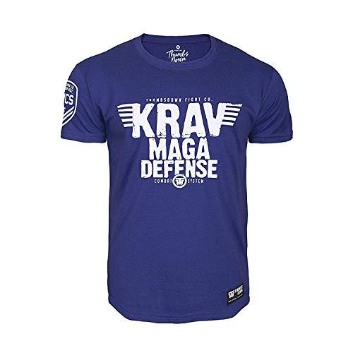 Thumbs Down Krav MAGA Defense T-Shirt. Combat System. MMA. Kampfkünste. Gym. Training. Martial Arts. Casual(Größe XLarge) (Herren Krav Maga T-shirt)