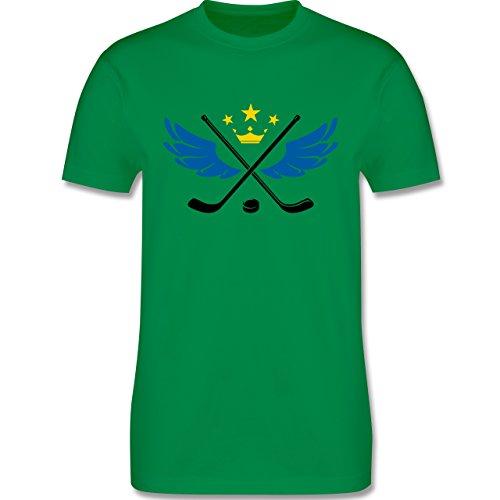 Eishockey - Hockey König - Herren Premium T-Shirt Grün
