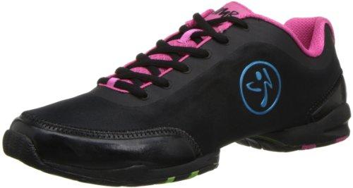 Zumba Footwear ZUMBAFLEX CLASSIC, Damen Hallenschuhe, Pink (Black/Fuschia), 43 EU (8.5 Damen UK)