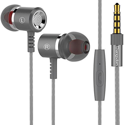 Langsdom M400 Metal In-Ear, Auriculares Estéreo y Graves con Control y Micrófono para Dispositivos Apple, Samsung, Android, Reproductores de MP3/MP4, Videojuegos