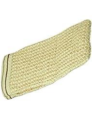 1x Behrend Massage-Handschuh, Peeling-Handschuh, 100% Sisal, handgestrickt, ohne Daumen