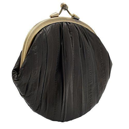 Bourse De Cuir Anguille Granny noir