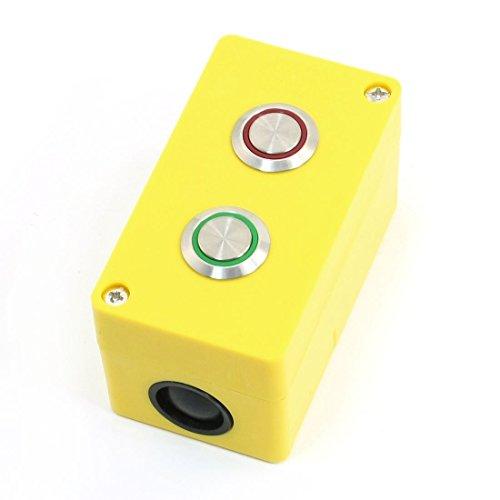 NO + NC Selbsthemmend SPDT Rot / Grün-Lampe 2 Taste Control Station Taste Control Station