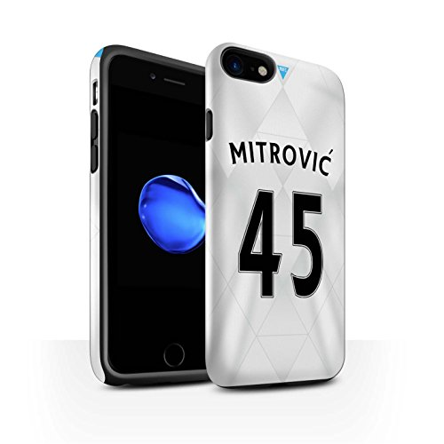 Offiziell Newcastle United FC Hülle / Glanz Harten Stoßfest Case für Apple iPhone 7 / Anita Muster / NUFC Trikot Away 15/16 Kollektion Mitrovic