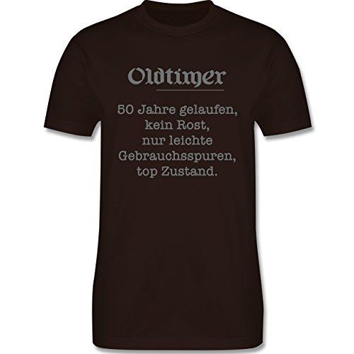 Geburtstag - 50 Jahre Oldtimer Fun Geschenk - Herren Premium T-Shirt Braun