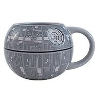 Silver Buffalo SV9195 Star Wars Death Star 3D Sculpted Ceramic Mug, 20-Ounces