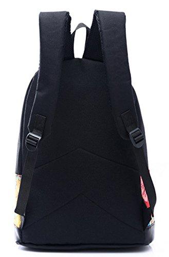 Longzibog Einfache und Modedesign. Nie aus der Mode. 2016 Neue Maedchen Rucksack Schulranzen Mehrfarbig 4