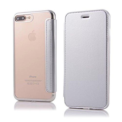 Coque iPhone 7,Coque iPhone 7 Plus, Coque iPhone 6/6S, Coque iPhone 6Plus/6S Plus, Coque iPhone Case cover, [Porte-cartes] étui Protection en Cuir Portefeuille multi-Usage Housse Rabattable(ARD-04) A