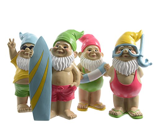 28.5cm Large Seaside Fun Garden and Home Gnomes (Set of 4)