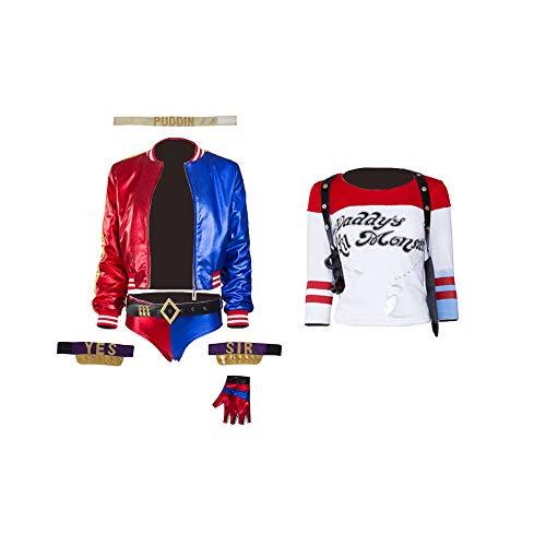 Glam Cos Suicide Harley weibliches Cosplay-Kostüm, Margot Robbie - - XXX-Large