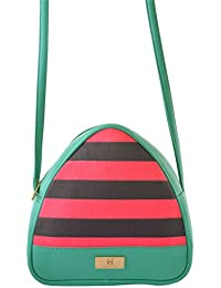 Women's Sling Bag (Pink And Turquoise) - B072XDSD3D