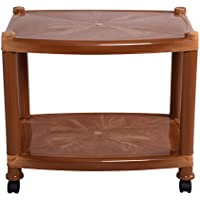 Cello Orchid Center Trolley Table  (Sandalwood Brown)