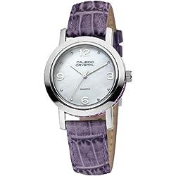 Caleido Crystal Damen-Armbanduhr XS Glamour Analog Leder CAC-01