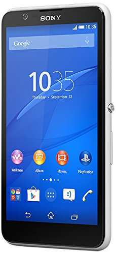 "Sony Xperia E4 Single SIM 8GB White - Smartphones (12.7 cm (5""), 8 GB, 5 MP, Android, 4.4.4, White)"