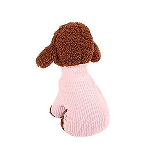 probeninmappx Haustier Katze Hund Jumpsuit Strampler Kleidung Sweatshirt Customes Pullover Mantel Bekleidung, Pink, Größe XL