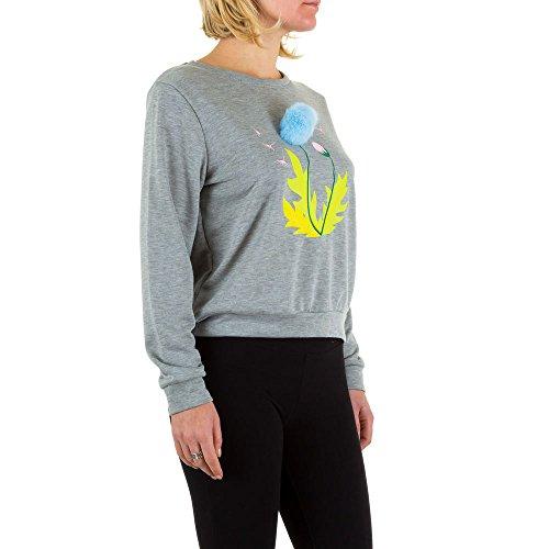 Elastisches Sweatshirt Für Damen bei Ital-Design Grau