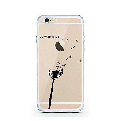 licaso Handyhülle für iPhone 7 und 8 aus TPU mit Baby Einhorn Print Design Schutz Hülle Protector Soft Extra (iPhone 7 / 8, Unicorn Baby) With the Flow