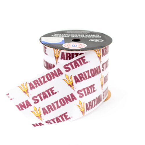 ARIZONA STATE UNIVERSITY GIFT WRAP RIBBON-ARIZONA STATE SUN DEVILS CRAFT RIBBON-2 1/2 WIDTH, STRIPE-NCAA RIBBON by Offray