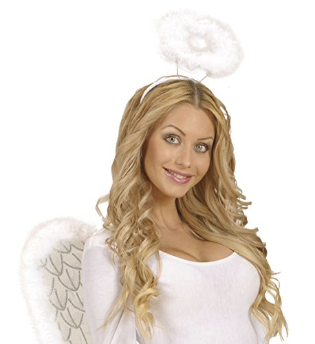Momo&Ayat Fashions Unisex Christmas Accessories Costume Headband Elf Santa All Mix & Match (White Halo, OneSize) (Hunde Halo Kostüm)