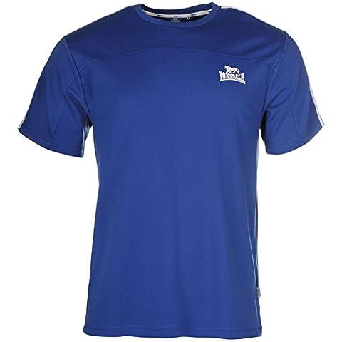 Lonsdale 2Logo Maglietta Maniche Corte Blu/Bianco, Uomo, Blue / White, S