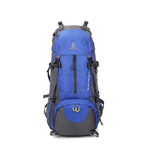 HENDTOR Camping Wandern Rucksack Outdoor Sports Bag Reisen Trekking Rucksack Bergsteigen Ausrüstung 60L Für Männer Frauen Black Color 50-70L -