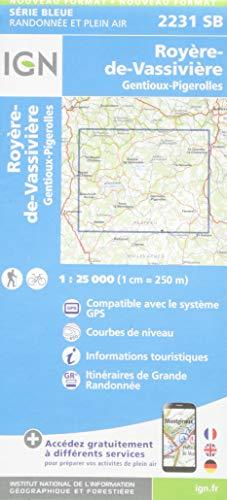 2231SB ROYERE-DE-VASSIVIERE GENTIOUX-PIGEROLLES par COLLECTIF