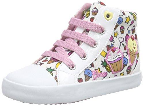 Geox B Kiwi Girl F, Scarpe Walking Baby Bambina Bianco (white/multicolor)