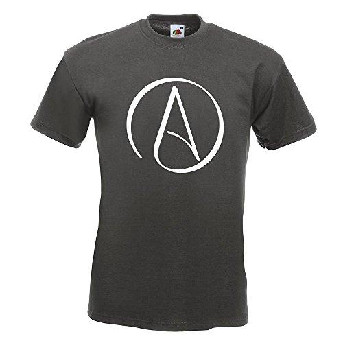 KIWISTAR - Atheismus - Atheist T-Shirt in 15 verschiedenen Farben - Herren Funshirt bedruckt Design Sprüche Spruch Motive Oberteil Baumwolle Print Größe S M L XL XXL