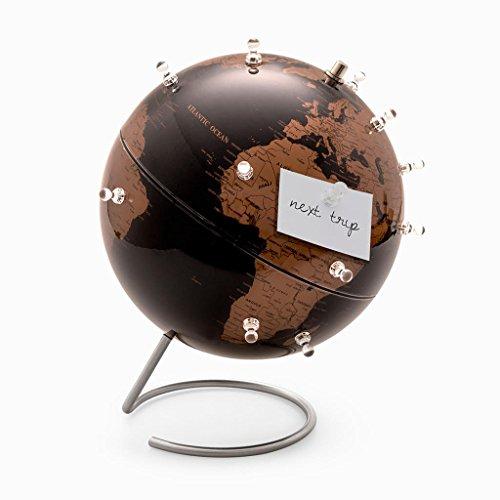 Balvi Globo terráqueo Antique Globe Color Negro Magnético con 12 imanes Metal