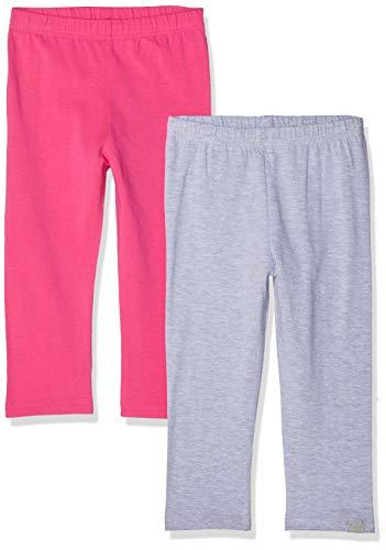 Playshoes Mädchen Capri Pink-Grau im 2er Pack Leggings, Rosa (Sortiert 999), Herstellergröße: 86 (erPack 2)