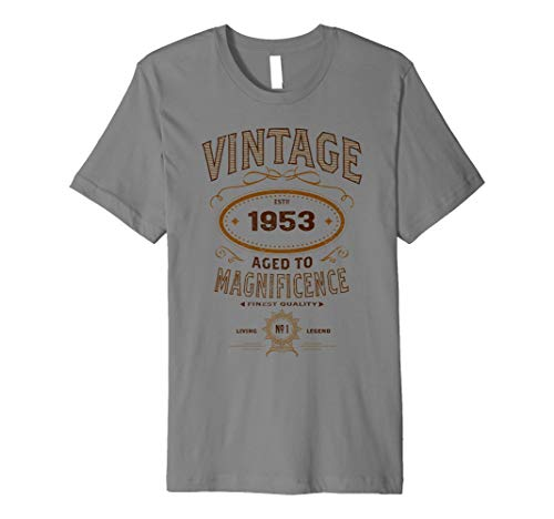 Vintage Aged To Magnificence 1953 65th Birthday Gift T Shirt