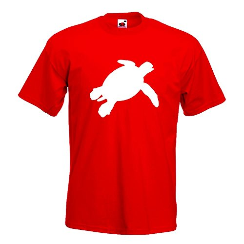 KIWISTAR - Schildkröte Silhouette T-Shirt in 15 verschiedenen Farben - Herren  Funshirt bedruckt Design
