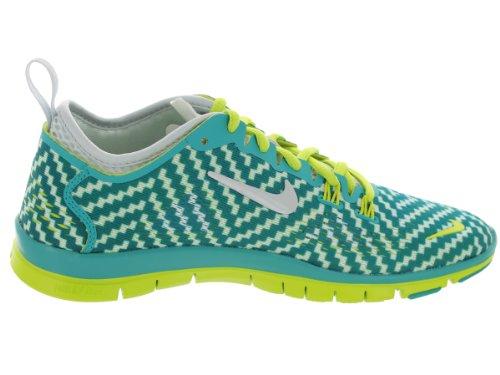 Nike Free 5.0 Print, Chaussures de running entrainement femme Trb Grn/White/Vnm Grn/Pr Pltnm
